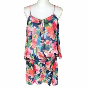 Vera Bradley Floral Dress Cutout Sleeve